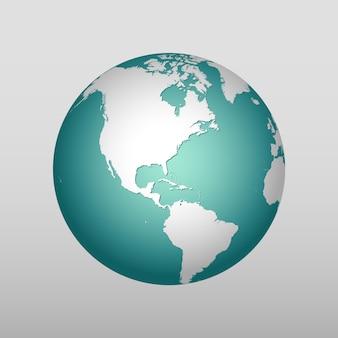 Icona realistica della terra in diversi colori