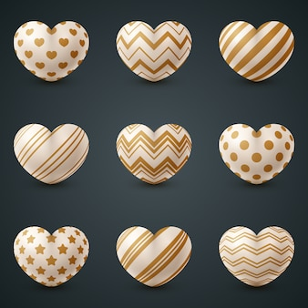 Icona realistica di amore e cuore