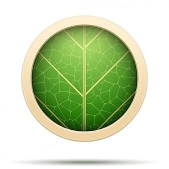 Icona rotonda di foglie