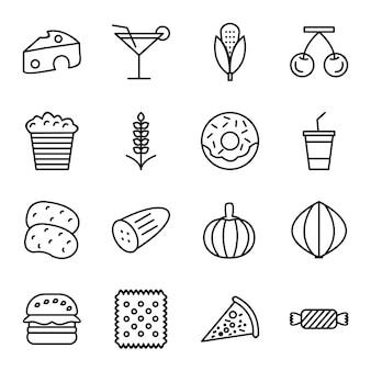 Icona set di cibo