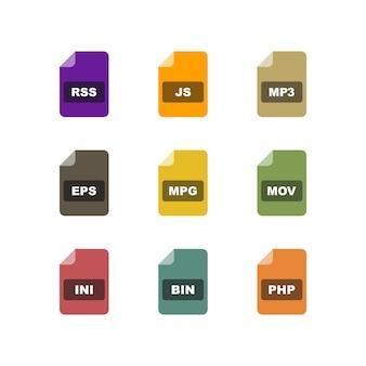 Icona set di formati di file
