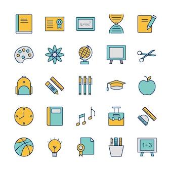 Icona set di istruzione per uso personale e commerciale