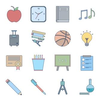 Icona set di istruzione