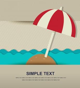 Icona spiaggia di carta