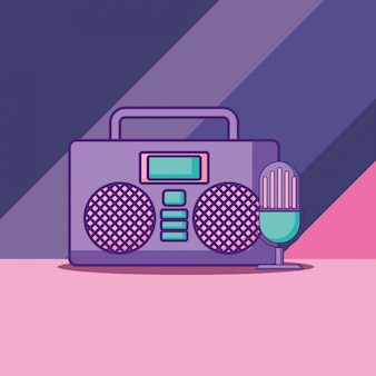Icona stereo boombox