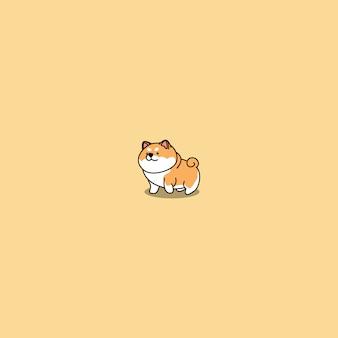 Icona sveglia del fumetto del cane di shiba inu