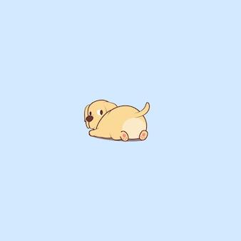 Icona sveglia del fumetto del cucciolo di labrador retriever