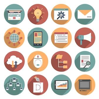 Icona web piatta