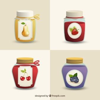Icone barattoli di marmellata pacco