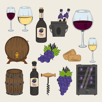 Icone cantina e vino