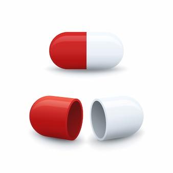 Icone capsule aperte e chiuse