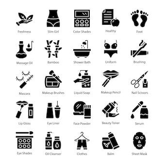 Icone creative del salone e della stazione termale
