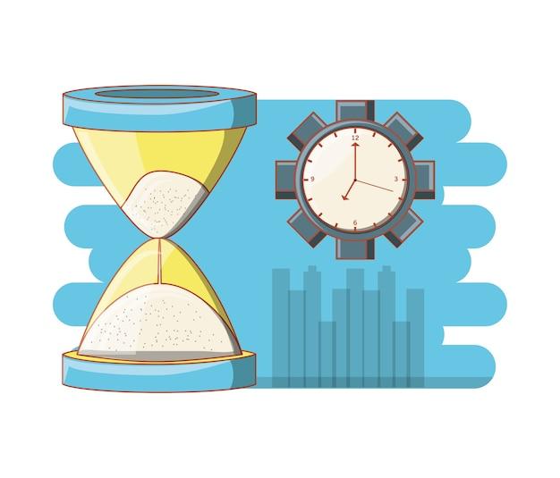 Icone degli elementi del tempo di lavoro