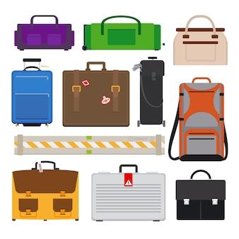 Icone dei bagagli in viaggio