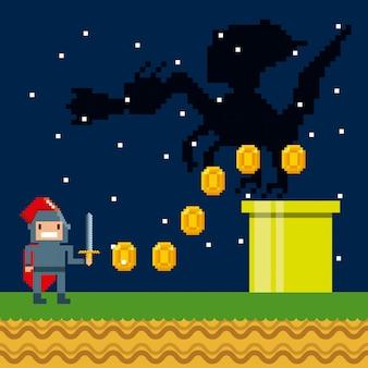 Icone dei videogiochi pixelate