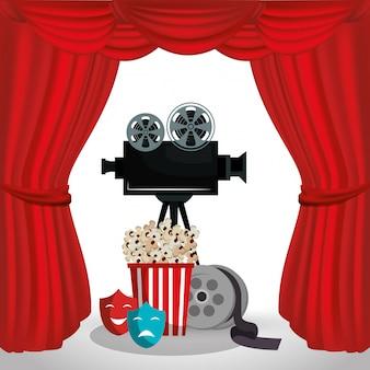 Icone del cinema della videocamera