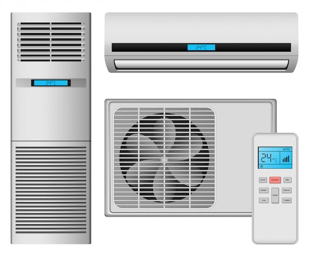 Icone del filtro dell'aria del condizionatore messe