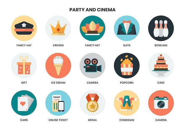 Icone del partito impostate per le imprese