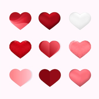 Icone dell'illustrazione di san valentino