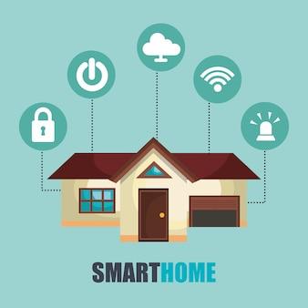 Icone della casa intelligente tecnologia set