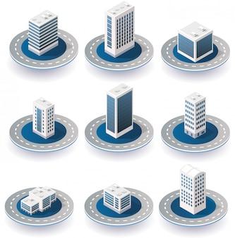 Icone della città isometrica