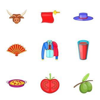 Icone della spagna messe, stile del fumetto