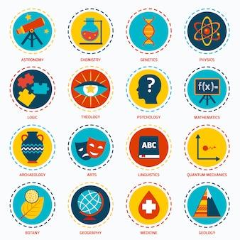 Icone delle aree scientifiche