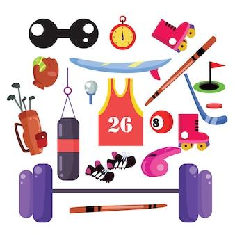 Icone dello sport in stile cartone animato