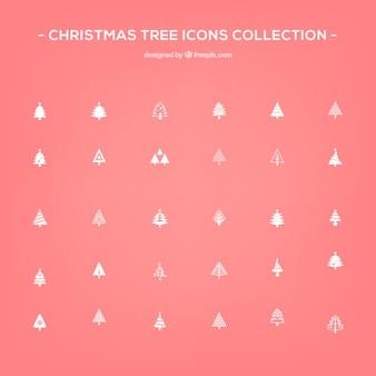 Icone di albero di natale vector pack