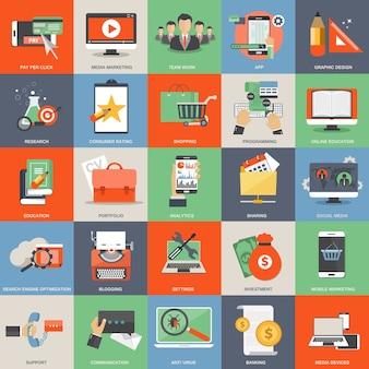 Icone di applicazioni web e mobile