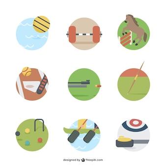 Icone di attrezzature sportive