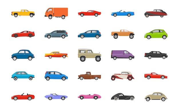 Icone di automobili di trasporto