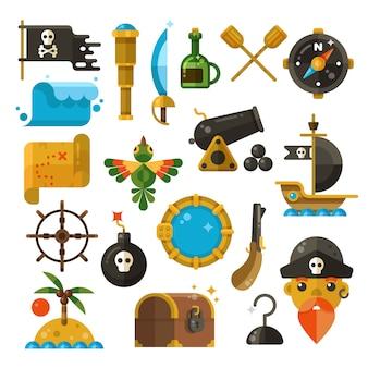 Icone di avventura del mare