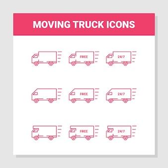 Icone di camion in movimento