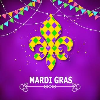 Icone di carnevale di mardi gras