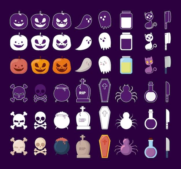 Icone di celebrazione di halloween