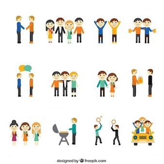 Icone di concetto di amicizia