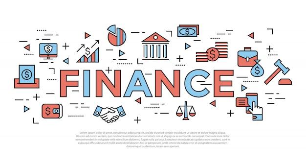 Icone di contabilità, finanza bancaria