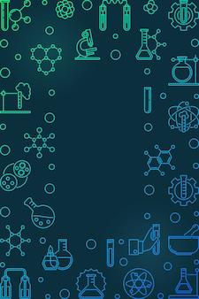 Icone di contorno colorato chimica