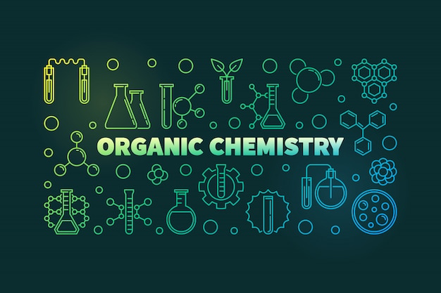 Icone di contorno contorno chimica organica
