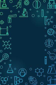 Icone di contorno di chimica