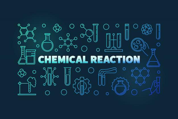 Icone di contorno di reazione chimica
