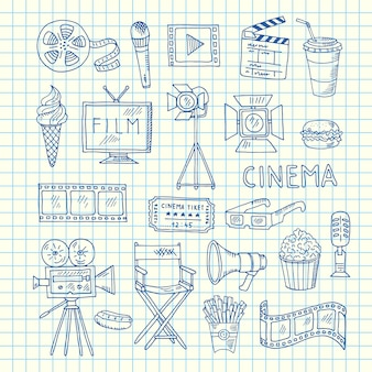 Icone di doodle del cinema