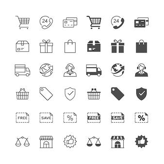 Icone di e-commerce
