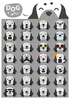 Icone di emoji cane
