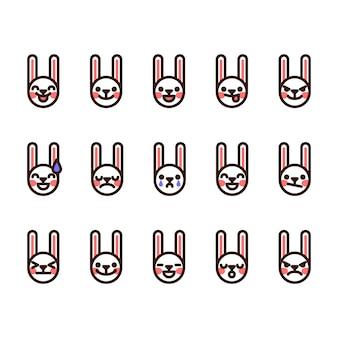 Icone di emoji di coniglio