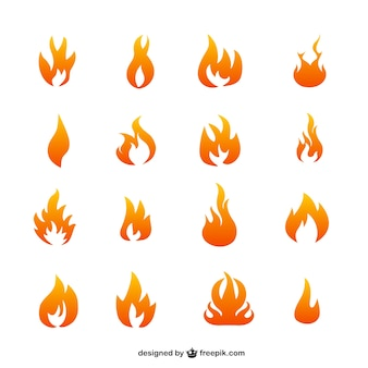 Icone di fiamma vettore