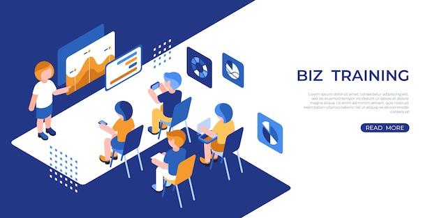 Icone di formazione aziendale di realtà virtuale con persone