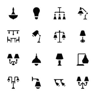 Icone di glifo di lampade