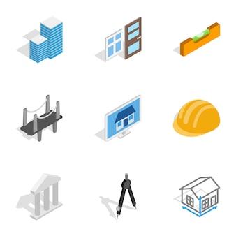 Icone di ingegneria e costruzione